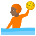 Person Playing Water Polo: Medium-Dark Skin Tone on JoyPixels 5.5