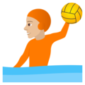 Person Playing Water Polo: Medium-Light Skin Tone on JoyPixels 5.5