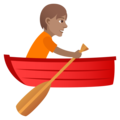 Person Rowing Boat: Medium Skin Tone on JoyPixels 5.5