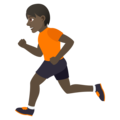 Person Running: Dark Skin Tone on JoyPixels 5.5