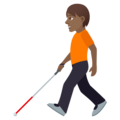 Person with White Cane: Medium-Dark Skin Tone on JoyPixels 5.5