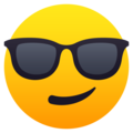 Smiling Face with Sunglasses on JoyPixels 5.5