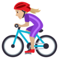 Woman Biking: Medium-Light Skin Tone on JoyPixels 5.5