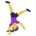 Woman Cartwheeling on JoyPixels 5.5