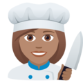 Woman Cook: Medium Skin Tone on JoyPixels 5.5