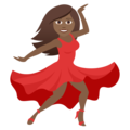 Woman Dancing: Medium-Dark Skin Tone on JoyPixels 5.5