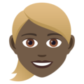 Woman: Dark Skin Tone, Blond Hair on JoyPixels 5.5