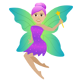 Woman Fairy: Medium-Light Skin Tone on JoyPixels 5.5