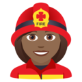 Woman Firefighter: Medium-Dark Skin Tone on JoyPixels 5.5