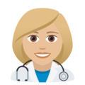 Woman Health Worker: Medium-Light Skin Tone on JoyPixels 5.5