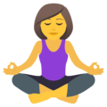 Woman in Lotus Position on JoyPixels 5.5
