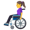 Woman in Manual Wheelchair on JoyPixels 5.5