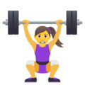 Woman Lifting Weights on JoyPixels 5.5