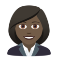 Woman Office Worker: Dark Skin Tone on JoyPixels 5.5