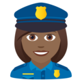 Woman Police Officer: Medium-Dark Skin Tone on JoyPixels 5.5