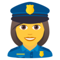 Woman Police Officer on JoyPixels 5.5