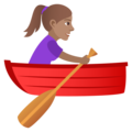 Woman Rowing Boat: Medium Skin Tone on JoyPixels 5.5
