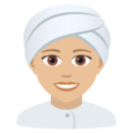 Woman Wearing Turban: Medium-Light Skin Tone on JoyPixels 5.5