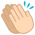Clapping Hands: Light Skin Tone on JoyPixels 6.0