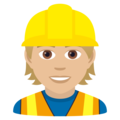 Construction Worker: Medium-Light Skin Tone on JoyPixels 6.0