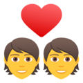 Couple with Heart on JoyPixels 6.0