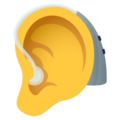 Ear with Hearing Aid on JoyPixels 6.0
