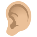 Ear: Medium-Light Skin Tone on JoyPixels 6.0