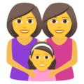 Family: Woman, Woman, Girl on JoyPixels 6.0