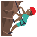 Man Climbing: Medium-Dark Skin Tone on JoyPixels 6.0