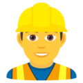 Man Construction Worker on JoyPixels 6.0
