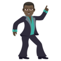 Man Dancing: Dark Skin Tone on JoyPixels 6.0