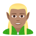 Man Elf: Medium Skin Tone on JoyPixels 6.0