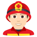 Man Firefighter: Light Skin Tone on JoyPixels 6.0