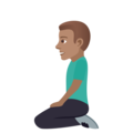 Man Kneeling: Medium Skin Tone on JoyPixels 6.0