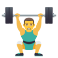 Man Lifting Weights on JoyPixels 6.0