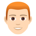 Man: Light Skin Tone, Red Hair on JoyPixels 6.0