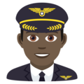 Man Pilot: Dark Skin Tone on JoyPixels 6.0