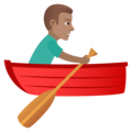 Man Rowing Boat: Medium Skin Tone on JoyPixels 6.0
