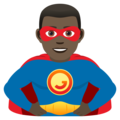 Man Superhero: Dark Skin Tone on JoyPixels 6.0