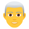 Man: White Hair on JoyPixels 6.0