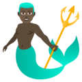 Merman: Dark Skin Tone on JoyPixels 6.0