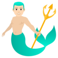 Merman: Light Skin Tone on JoyPixels 6.0