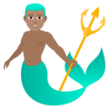 Merman: Medium Skin Tone on JoyPixels 6.0