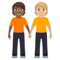 People Holding Hands: Medium-Dark Skin Tone, Medium-Light Skin Tone on JoyPixels 6.0
