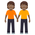 People Holding Hands: Medium-Dark Skin Tone on JoyPixels 6.0