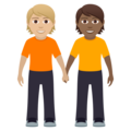 People Holding Hands: Medium-Light Skin Tone, Medium-Dark Skin Tone on JoyPixels 6.0