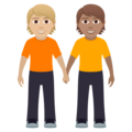 People Holding Hands: Medium-Light Skin Tone, Medium Skin Tone on JoyPixels 6.0