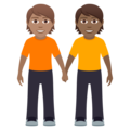 People Holding Hands: Medium Skin Tone, Medium-Dark Skin Tone on JoyPixels 6.0