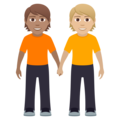 People Holding Hands: Medium Skin Tone, Medium-Light Skin Tone on JoyPixels 6.0