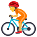 Person Biking on JoyPixels 6.0